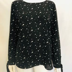 Black top with stars, made in USA, size medium